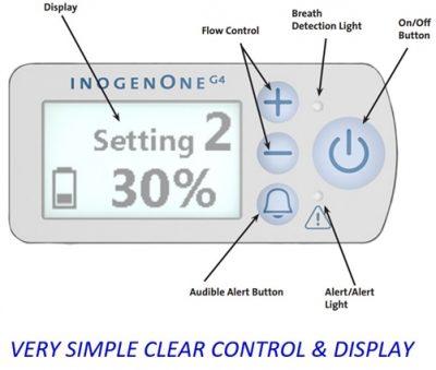 inogen display screen